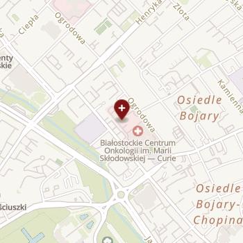 Białostockie Centrum Onkologii im. M. Skłodowskiej-Curie w Białymstoku na mapie