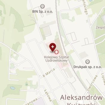Kolejowy Szpital Uzdrowiskowy w Ciechocinku na mapie