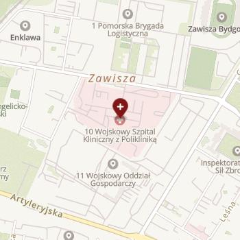 10 Wojskowy Szpital Kliniczny z Polikliniką - SPZOZ w Bydgoszczy na mapie