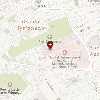 Szpital Uniwersytecki Imienia Karola Marcinkowskiego w Zielonej Górze na mapie