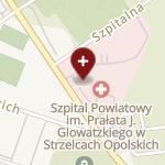 Szpital Powiatowy im. Prałata J. Glowatzkiego w Strzelcach Opolskich na mapie