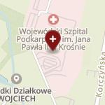 Wojewódzki Szpital Podkarpacki im. Jana Pawła II w Krośnie na mapie